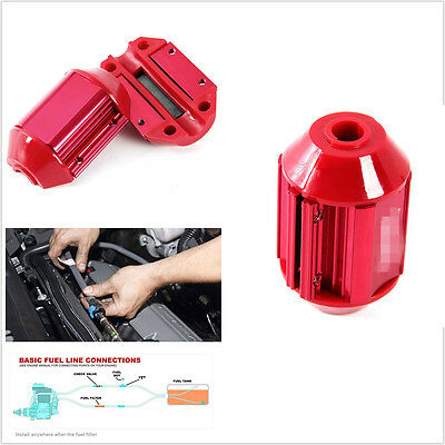 Red Car Metal Casing Fuel Saver Magnetic Gas Oil Saving Device Universal 1Pcs