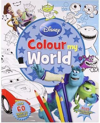 Disney Pixar: Colour My World Scenes Book with 12 Colouring Pencils included