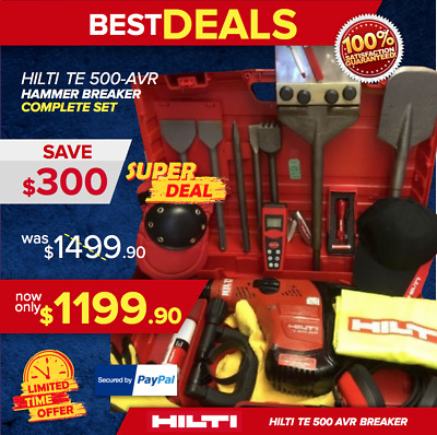 Hilti Te 500 Avr Preowned, Nice Condition, Load, Free Extras, Durable, Fast Ship