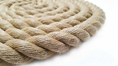 Rope, Synthetic hemp Polyhemp for Gardens & Decking & Boating  20mm All lengths