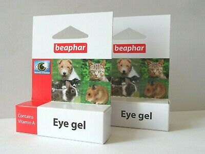 2 x Beaphar Eye Gel, 5G, for Dogs, Cats and Small Animals. Relieves Irritation