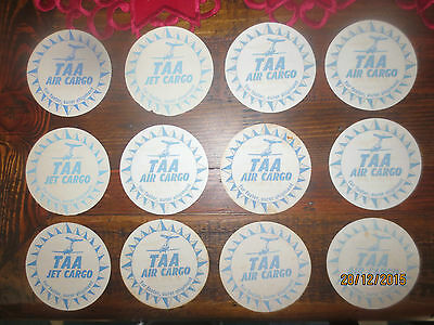 """12 TAA AIRLINES """"AIR Cargo""""  collectable COASTERS"""
