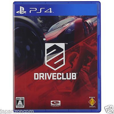 Used PS4 DRIVECLUB  SONY PLAYSTATION 4  JAPANESE JAPONAIS IMPORT