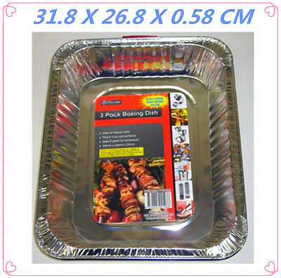 60 Pack Rectangular Foil Roaster/tray - Bbq, Fan Forced, Ovens - 31.8X26.8X0.58