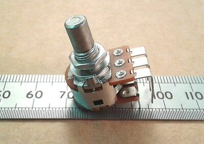 Stereo / Dual Gang Vertical PCB Round Shaft Pot, 16mm Linear Potentiometer