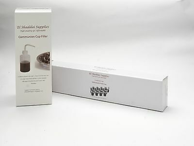 Communion Cups & 1 Cup Filler BUY & SAVE Box is 100 Disposable FREE DELIVERY