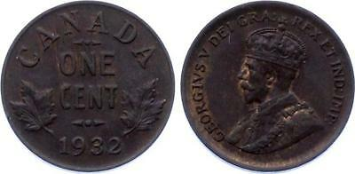 COIN (C) Canada 1 One Cent 1932 KM# 28 BUNC George V