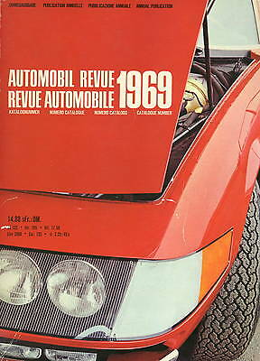 Automobil Revue Automobile 1969 • Catalogue Number • GOOD