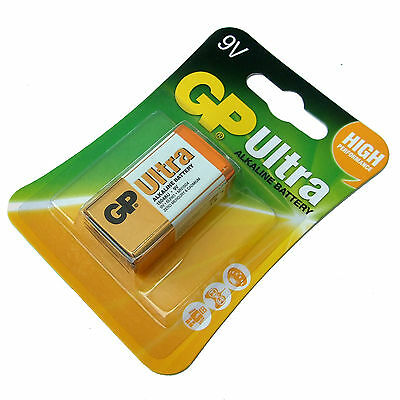Pp3 9V Battery Gp Ultra Alkaline High Power 6Lr61 6Lf22 Mn 1604 Au Expiry 2022