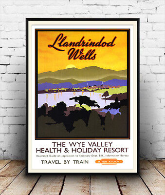 Wye Valley: Vintage British Railway advertising  ,Reproduction poster, Wall art.