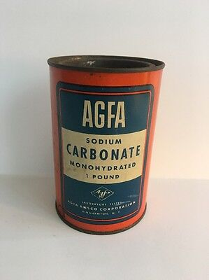 Agfa Sodium Carbonate Monohydrated 1 Pound Canister - Films Papers Chemicals