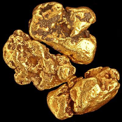 Five (5) Raw Gold Nuggets from Alaska