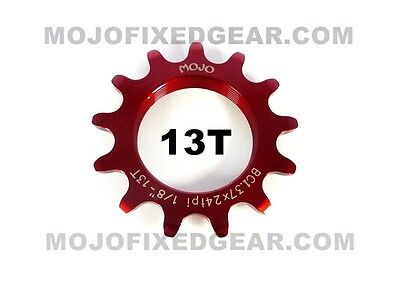 MOJO 15T FIXED GEAR COG POLISHED CHROME Cro-Mo TRACK 15 TOOTH 1//8 INCH CNC