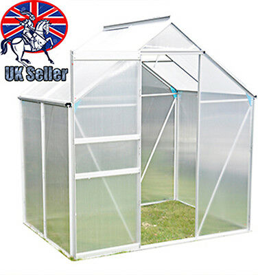 Panana Clear Polycarbonate Garden Greenhouse GrowHouse Aluminium With Foundation