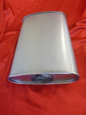 """3"""" Exhaust Muffler 10x4 Oval 14"""" Long O/C Performance 409 Stainless Steel"""