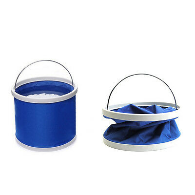 9L Outdoor Camping Fishing Folding Collapsible Bucket Water Container Pail 1pc