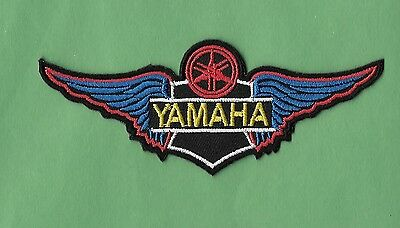 """NEW Yamaha Motorcycle 'Blue'  1 1/2 X 4 """" Inch  IRON ON PATCH FREE SHIPPING"""