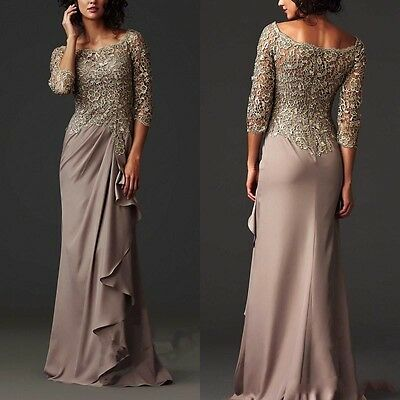 2017 New Mother of the Bride Formal Dresses Lace Long Prom Party Evening Gown