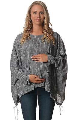 BNWT Maternity Slouch Jumper - Dark Grey - Sizes 8,10,12 & 14