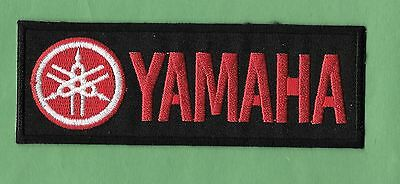 """NEW Yamaha Motorcycle 'Red'  1 1/2 X 4 1/2 """" Inch  IRON ON PATCH FREE SHIPPING"""