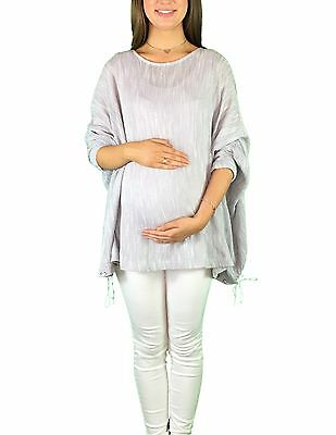 BNWT Maternity Slouch Jumper - Light Grey - Sizes 8,10,12 & 14