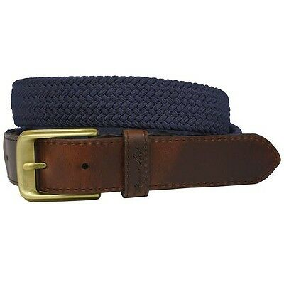 *NEW* Thomas Cook Unisex Comfort Waist Belt Navy/Brown Country Stretch
