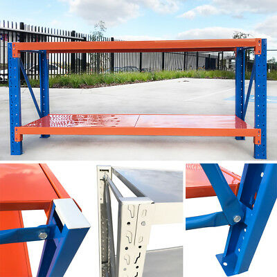 2Mx0.6Mx0.9M Steel Warehouse Workbench Shelving Racking Stand Shelf Work Benches