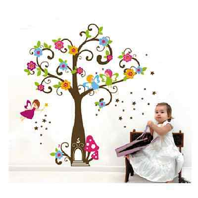 Fairy Tree Bird Wall Decal Removable Vinyl Stickers Home Decor Art Kids Nursery