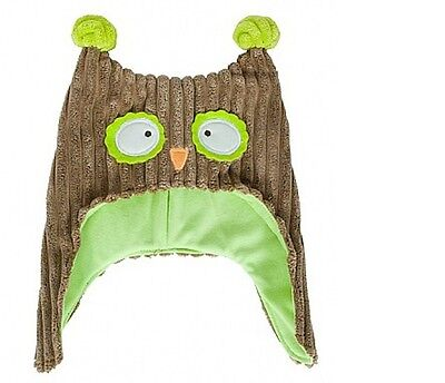 SALE Annabel Trends OWL BONNET Pillow Pals Green/Brown Baby Hat FREE POSTAGE