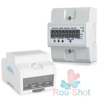 UK Three-phase Four-wire Meter Kilowatt Hour Meter LCD Display 50-60Hz 400V(80A)