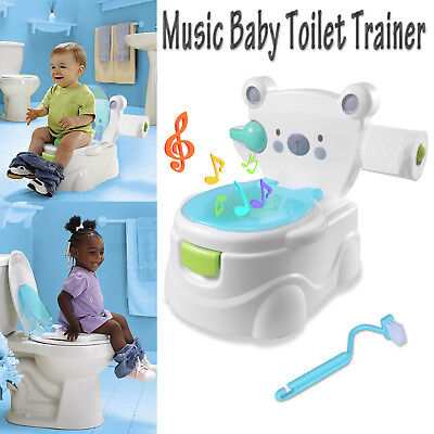 Kids Children Baby Toddler Toilet Training Potty Trainer Seat Chair 2 in1 Blue