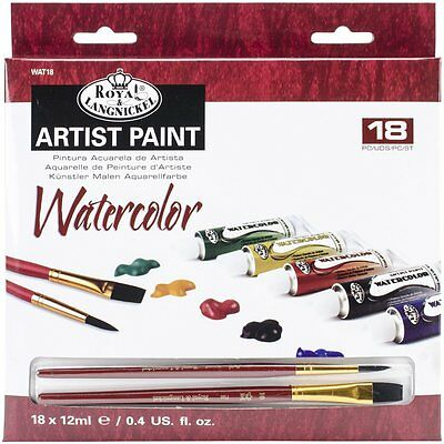 Royal Brush and Langnickel Watercolor Paint, 18-Piece WAT18  Art Supplies CXX