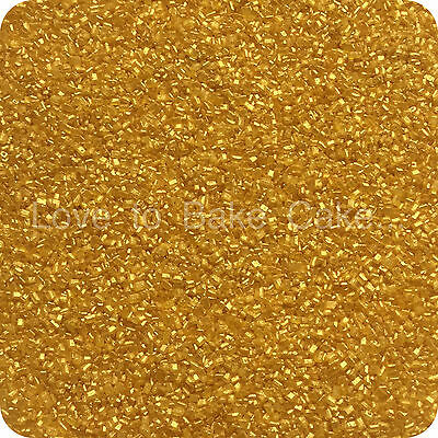 25g to 500g EDIBLE GOLD SPARKLING GLITTER SUGAR CRYSTALS Cupcake Cake Sprinkles
