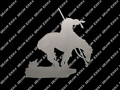 End of the Trail Native American Indian Horse Metal Wall Art Southwestern