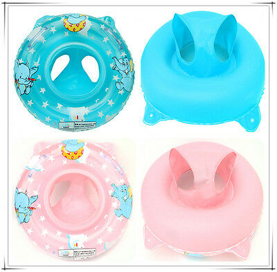 Inflatable Swimming Ring/seat Handles Baby Toddler Safety Aid Float Pool Water
