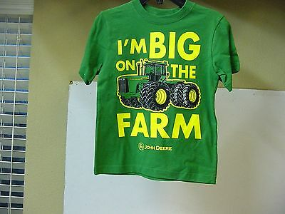 John Deere Tractor Youth Child T-Shirt, New, Size 5-6