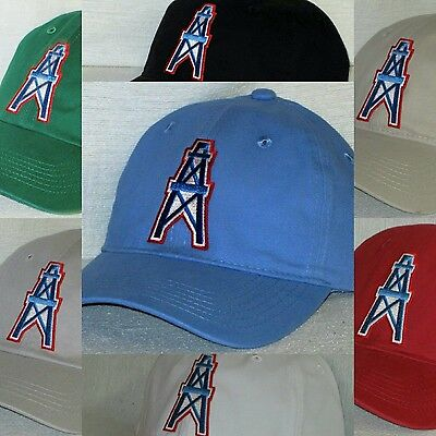 Houston Oilers Polo Style Cap ✨Hat ✨CLASSIC NFL PATCH LOGO ✨8 Colors 629550f70