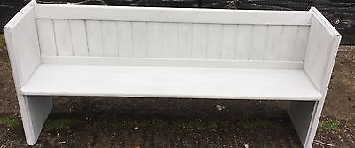 Pine Victorian Panted Pew/bench