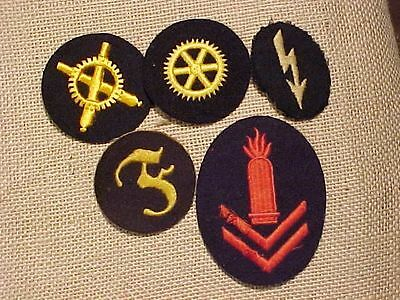 Original Wwii German Lot Of 5 Patches