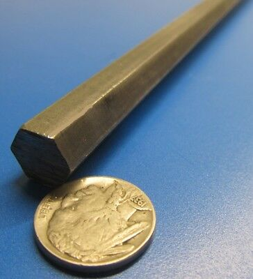 "12L14 Carbon Steel Hex Rod 1/2"" Hex x 3 Foot Length"