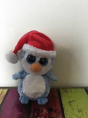 Ty Beanie Boo 7 Inch Fairbanks The Christmas Penguin Soft / Plush Toy