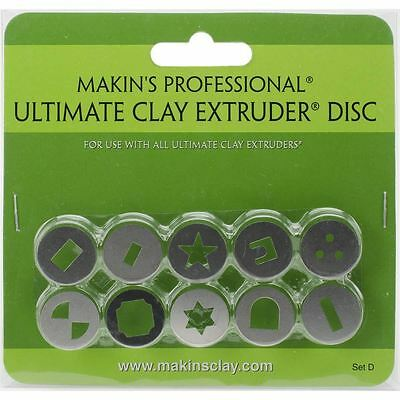 Makins Professional Ultimate Clay Extruder Discs Set D 10 Pack Canes Crafting