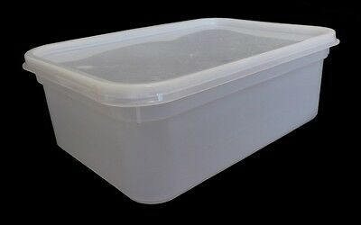 2 Litre Rectangular Ice Cream tubs/Food storage containers(Inc Northern Ireland)
