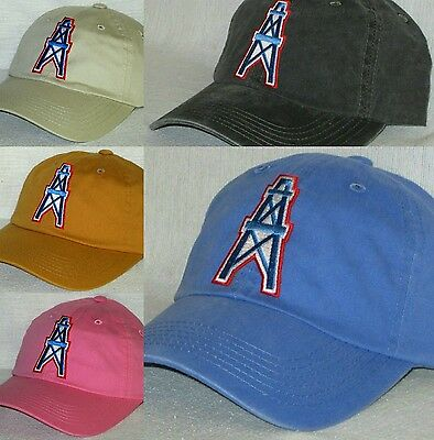 Houston Oilers Ladies Garment Washed Cap ~Hat ~NFL PATCH LOGO ~5 Colors b0a1a7ca7