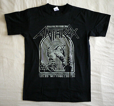"""Anthrax official T shirt """"Spreading the disease vintage"""" black New (S)"""