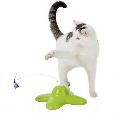 Cat Toy Kitten Activity Pet Post Play Kitty Catch Up Funny Butterfly Hunting