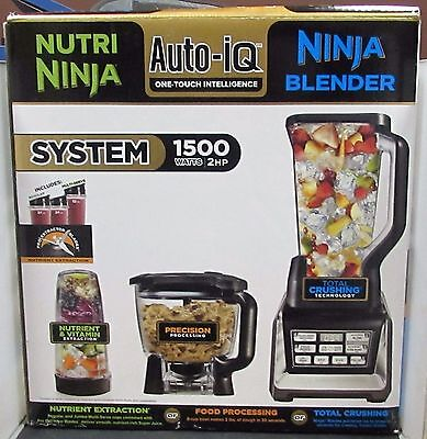 Nutri Ninja Blender AUTO-iQ 1500W 2 HP BL680A *SLIGHTLY USED IN ORIGINAL BOX*