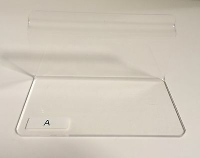 Acrylic / Plexiglass Retail Slatwall Shelving, Assorted Sizes--Mix & Match