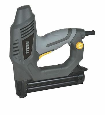 Electric Corded Stapler Nailer GUN Heavy Duty Fastening Tool WITH NAILS, STAPLES