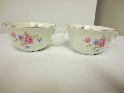 Lot 2 Older Verbano Industria Argentina marked Small Cups - Floral